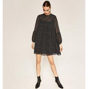 Only worn once Zara black & white trapeze dress